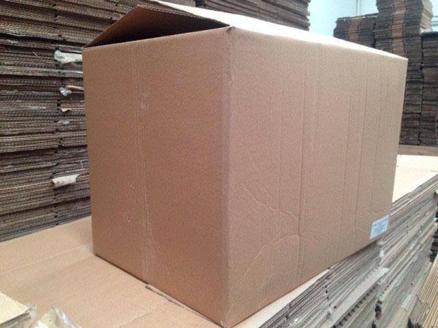 Caixa de papelão usada