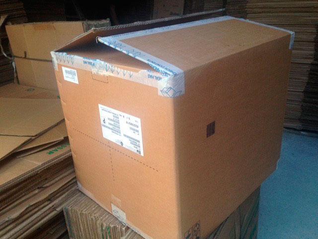 Caixa usada para transportar mercadorias