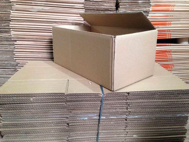 Caixas usadas de papelão