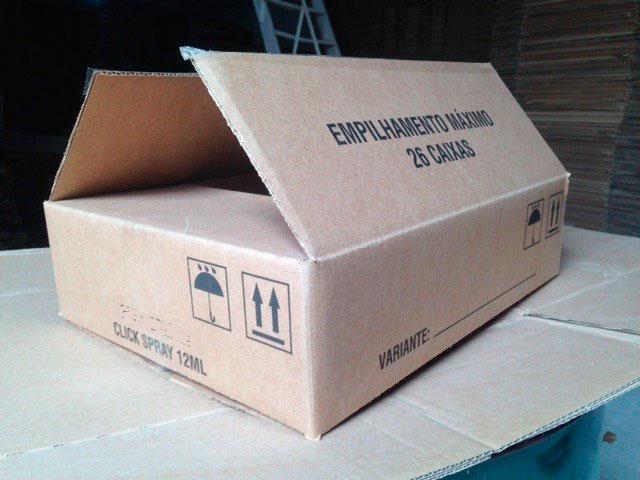 Preço caixa de papelão usada