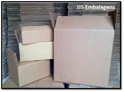 Caixa de papelão no abc