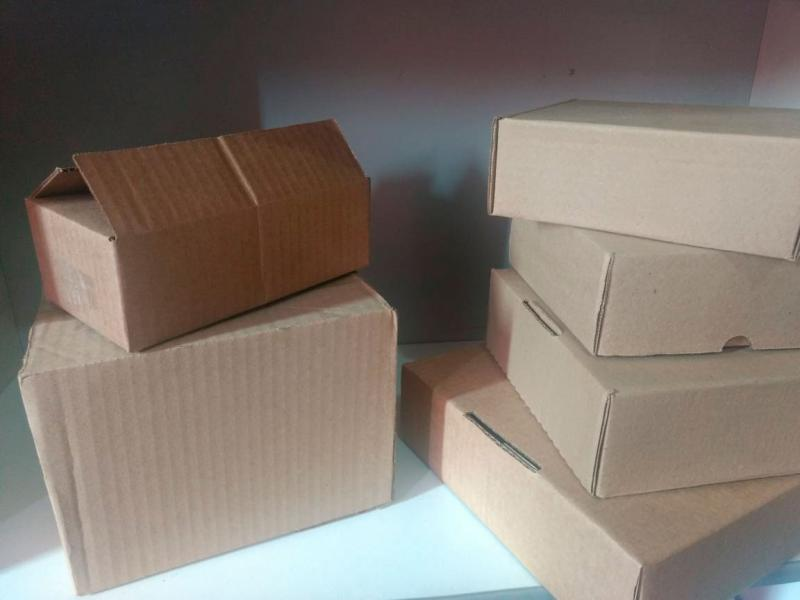 Caixa de papelão para correio