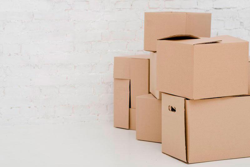 Caixas usadas para mudança